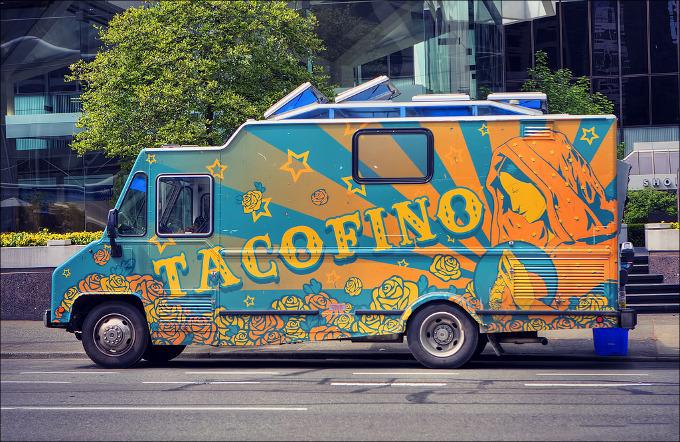 Tacofino food truck wedding