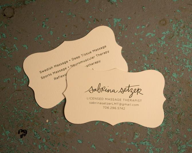 Sabrina Business Cards Alread Designs Graphic Design Wedding - Die cut business cards templates