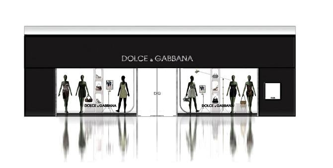 Front Elevation Of Garment Showroom : Dolce gabbana anna sokol interior design toronto on